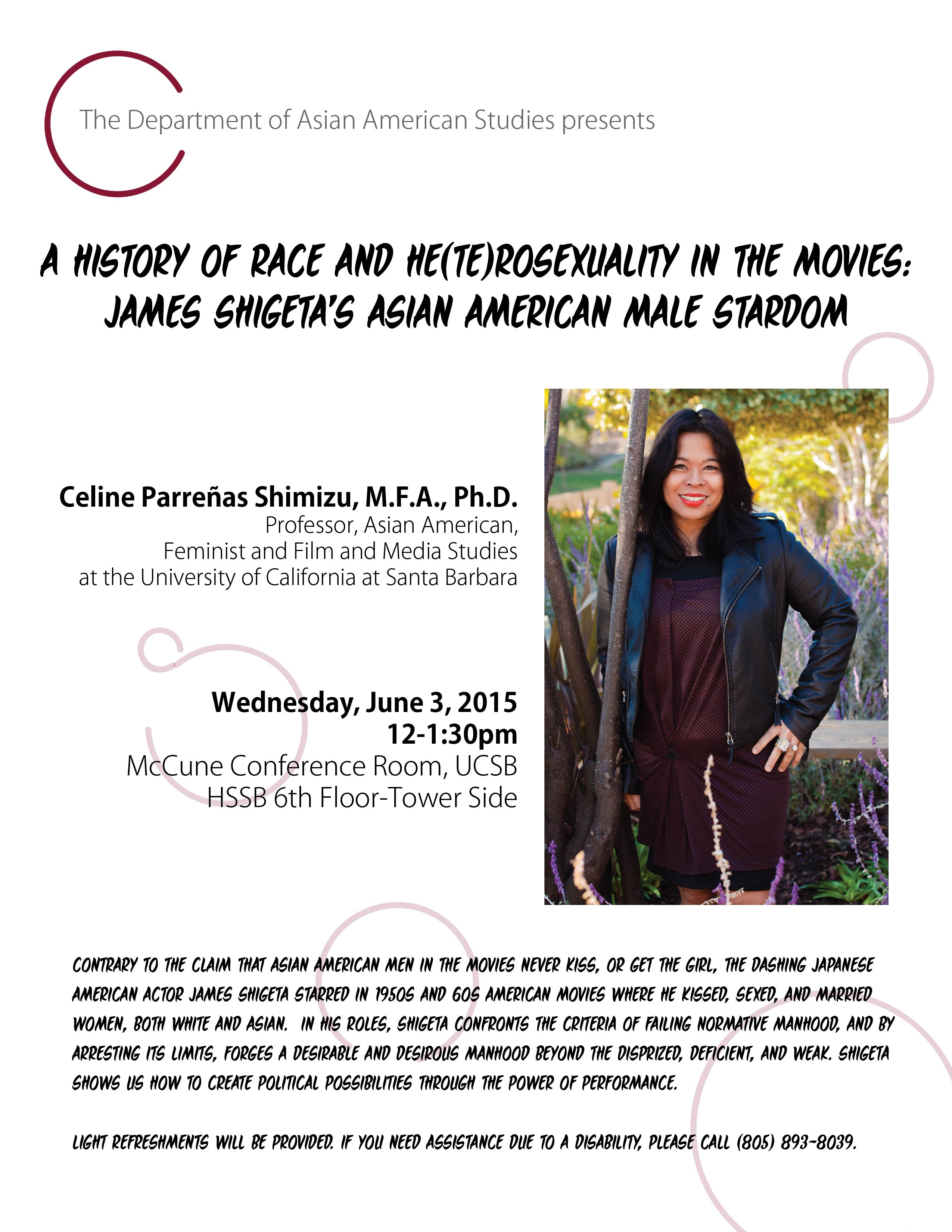 Celine Shimizu UCSB Farewell Lecture Flyer